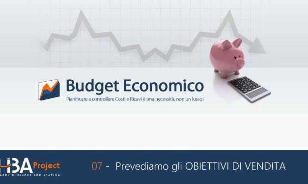 Video Budget HBA: Prevediamo gli obiettivi di vendita e registriamo i risultati