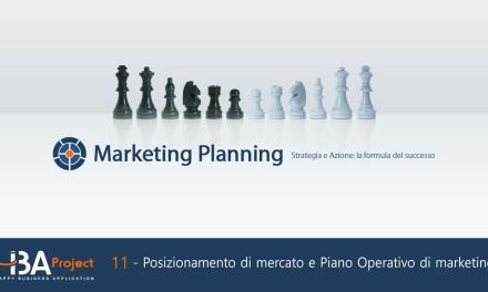 Il Posizionamento di Mercato e il Piano di Marketing Operativo