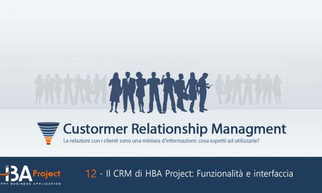 Il CRM di HBA Project
